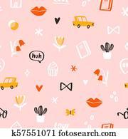 Pink mood pattern