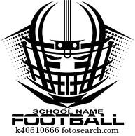 football helmet with facemask