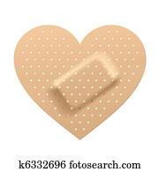 Plaster in shape of heart