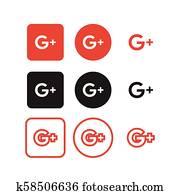 Google plus social media icons