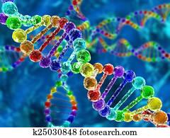 regenbogen, dns, (deoxyribonucleic, acid), mit, defocus, hintergrund