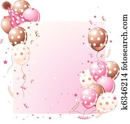 rosa, geburstag karte