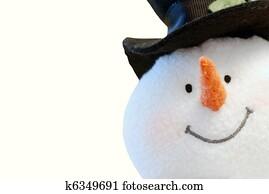Snowman face isolated