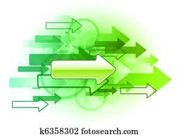 green arrows