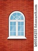 pvc, arc, fenêtre