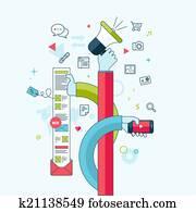 Concept for internet marketing