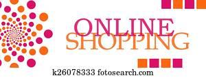 Online Shopping Pink Orange