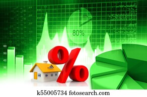 Real estate business charts and graph with discount sale