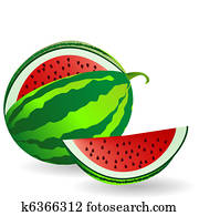 Watermelon with fruit slice