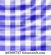 wavy blue picnic cloth