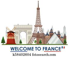 Welcome to france landmarks
