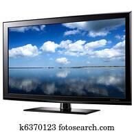 Modern widescreen tv