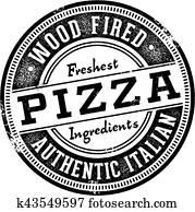 Wood Fired Pizza Menu Stamp