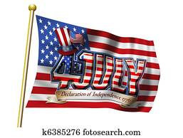 4th July Flag Graphic