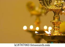 diwali oil lamp during festival period