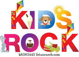 The word kids rock