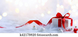 Christmas holidays composition on light background with copy space for your text