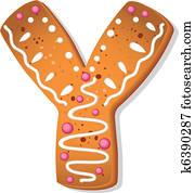 cookies letter Y