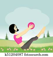 illustration of pilates