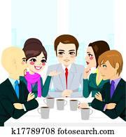 mitarbeitergruppe, besprechen