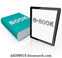 Print Book and e-Book - Traditional vs Modern Reading