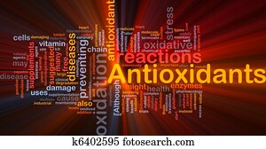 Antioxidants health background concept glowing