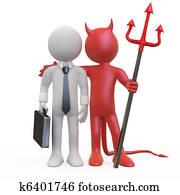 Devil with a businessman