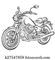 motorcycle vintage vector