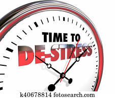 Time to De-Stress Clock Relax Enjoy Life 3d Illustration