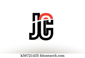 Clip Art Of Purple Black Alphabet Letter Jc J C Logo K56747028