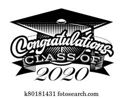 Graduation vector Class of 2020. Congrats grad Congratulations Graduate