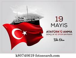 Happy 19 May Commemoration of Atat?rk, Youth and Sports Day.
