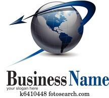 logo, erdeglobus