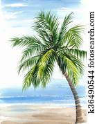 Palm seashore resort view