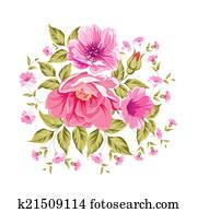 Roses, floral bouquet