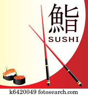 Sushi menu card