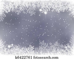 winter background with Christmas decoration