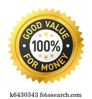 Good value for money label
