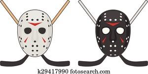 Horror hockey Mask for Halloween