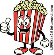 Popcorn with Thumbs Up