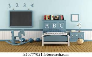 Retro child bedroom