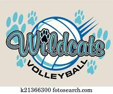 wildcats volleyball design
