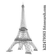 3d Eiffel Tower render