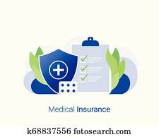 Medical insurance and healthcare concept.