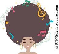 Teen Girl Hair Music