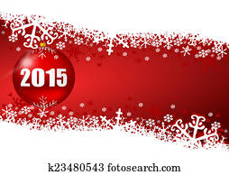 2015 new years illustration with christmas ball
