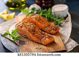 Cedar plank roasted salmon