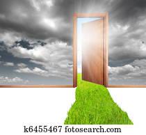 Door and green