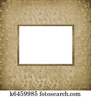 Grunge vintage background with old paper frame
