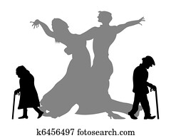 traum, to, sein, dass, tanzen, partner